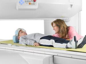 Child in Open MRI